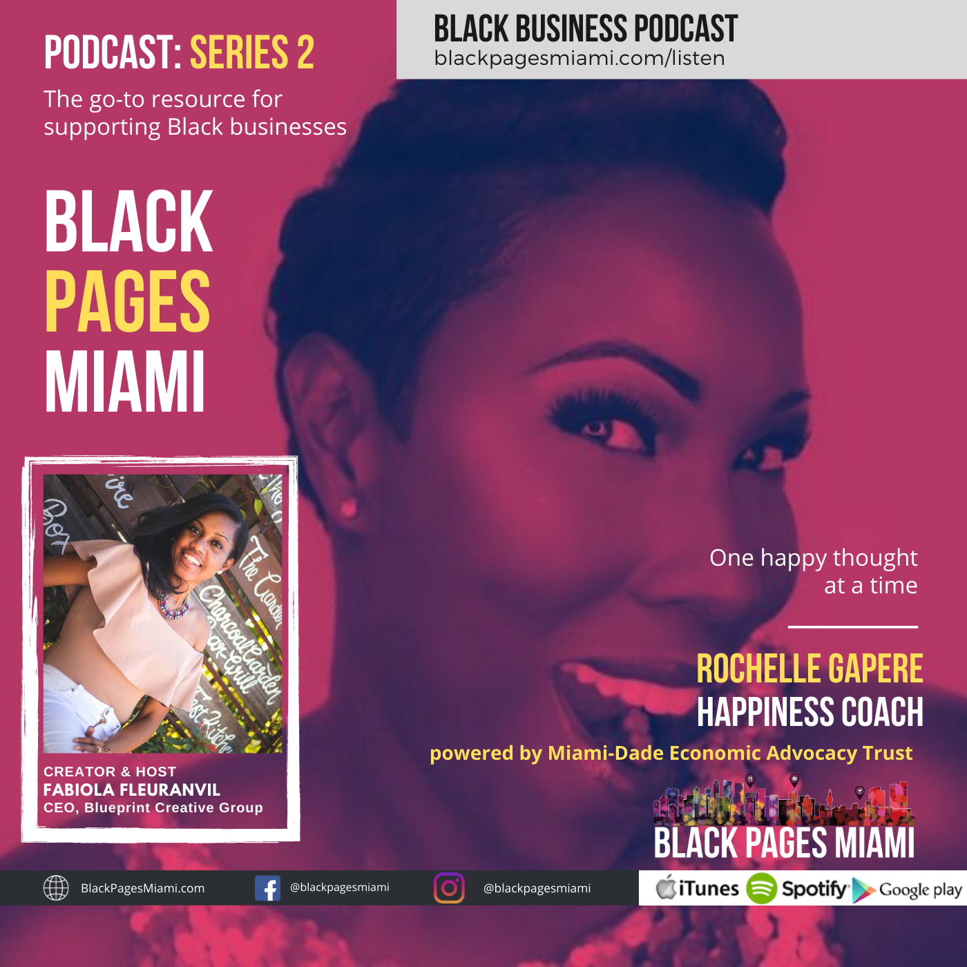 Rochelle Gapere, Happiness Coach, BlackPagesMiami